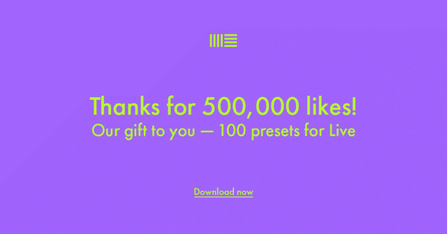 500,000 FB Likes for Ableton - Free Live Pack