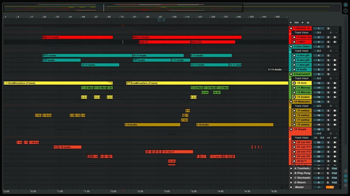 Organising Ableton Live Sets