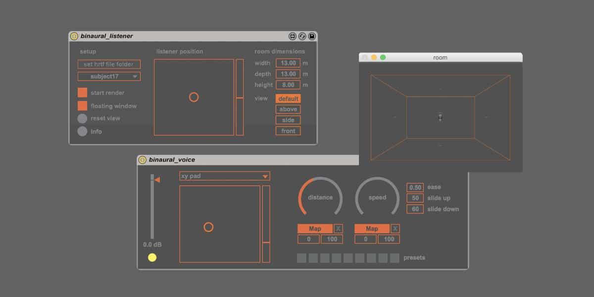 binaural_jit by Kasper Fangel Skov: Free Max for Live Binaural Spatialisation