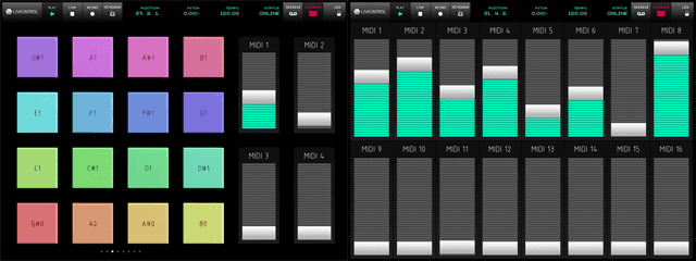 Pads & 16 customisable sliders to control chosen parameters