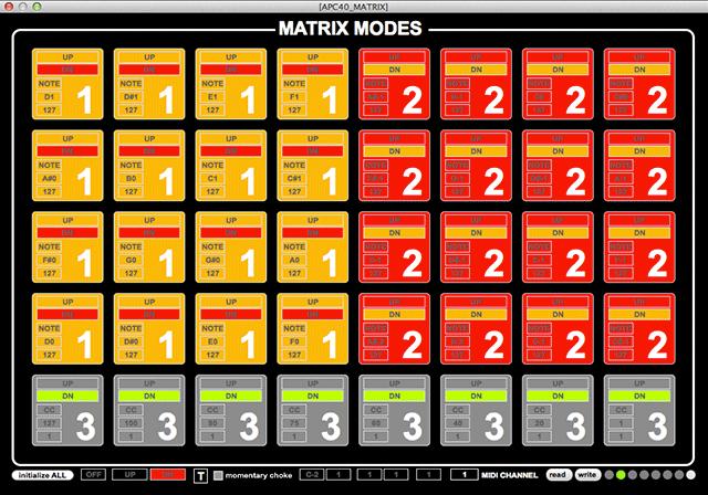 APC40 Matrix Modes