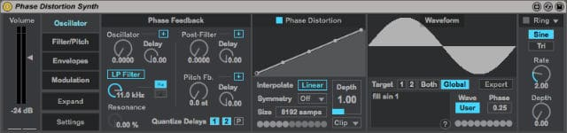 Phase Distortion Synth