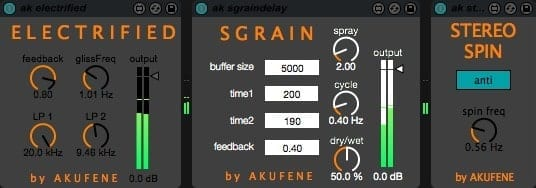 Akufene Max for Live Effects