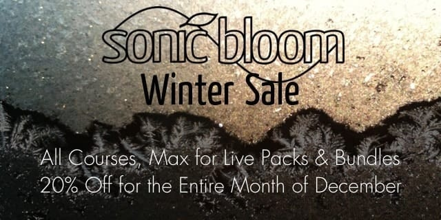 Sonic Bloom Winter Sale 2014 - Everything 20% Off