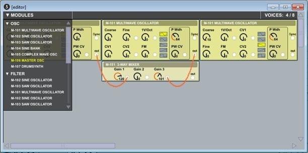 Screenshot of an old prototype of OSCiLLOT