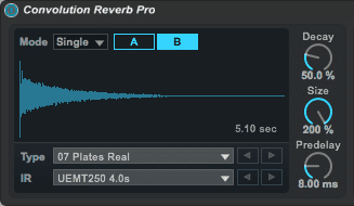 Convolution Reverb in Live 9 Suite