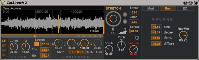CatStretch 2 by Max for Cats - Reverb Tab open