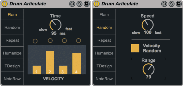 Drum Articulate - Flam & Random modes