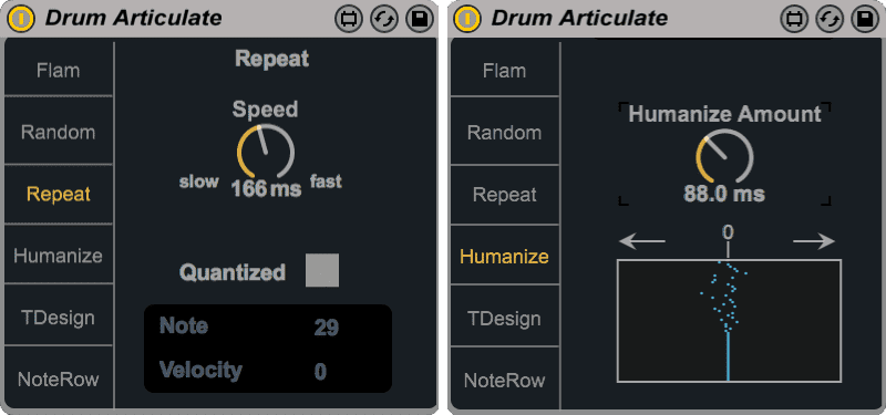 Drum Articulate - Repeat & Humanise modes