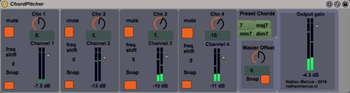 Chord Pitcher – Free 4 Voice Max for Live Pitch Effect | Sonic Bloom